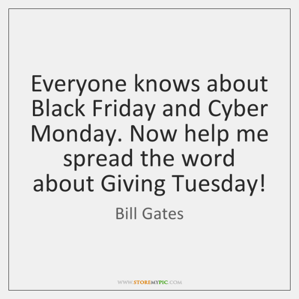 Everyone knows about Black Friday and Cyber Monday. Now help me spread ...