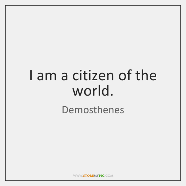 I Am A Citizen Of The World Storemypic