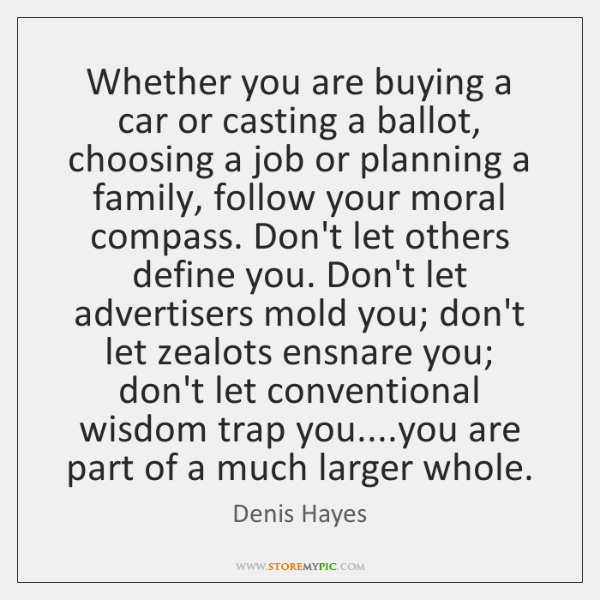 Whether you are buying a car or casting a ballot, choosing a ...