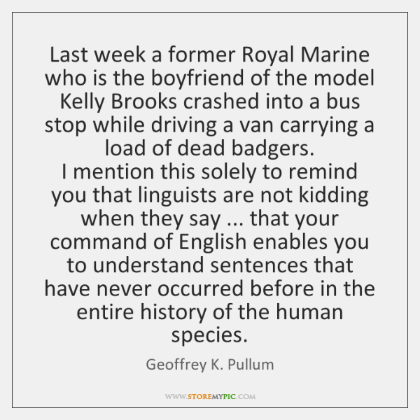 Last week a former Royal Marine who is the boyfriend of the ...