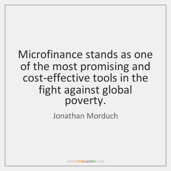 Microfinance stands as one of the most promising and cost-effective tools in ...
