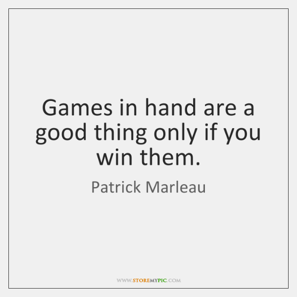 Games in hand are a good thing only if you win them.