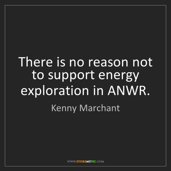 Kenny Marchant: There is no reason not to support energy exploration...
