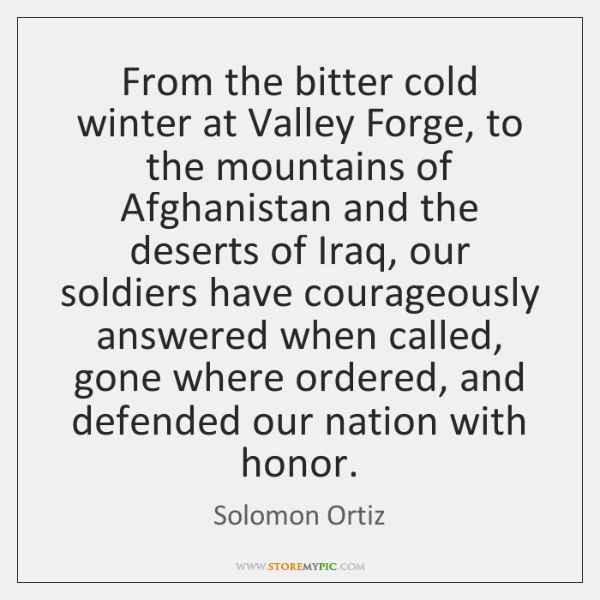From the bitter cold winter at Valley Forge, to the mountains of ...