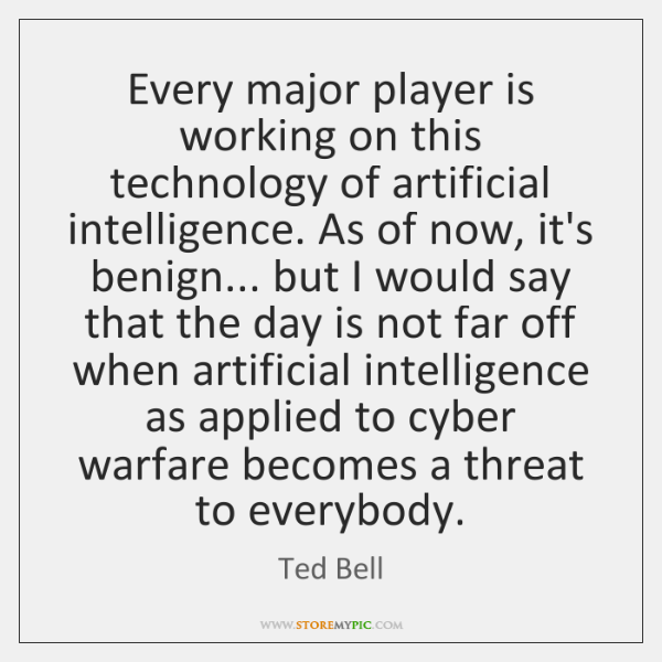 Every major player is working on this technology of artificial intelligence. As ...