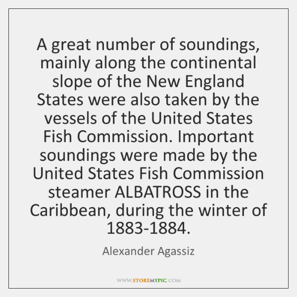 A great number of soundings, mainly along the continental slope of the ...