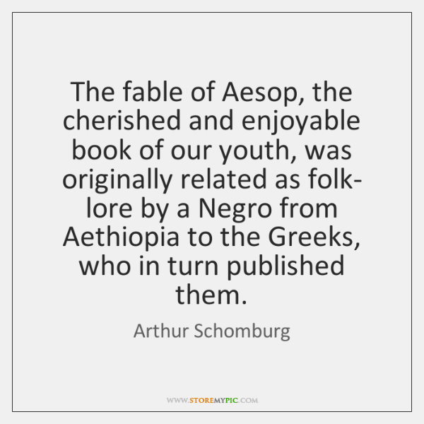 The fable of Aesop, the cherished and enjoyable book of our youth, ...