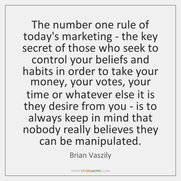 The number one rule of today's marketing - the key secret of ...