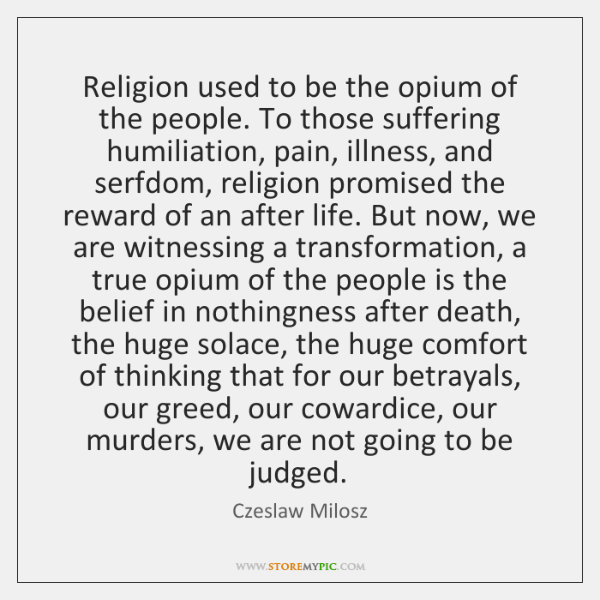 religion opium of the people
