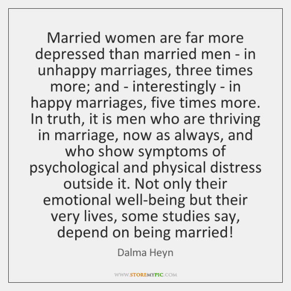 Married women are far more depressed than married men - in unhappy ...