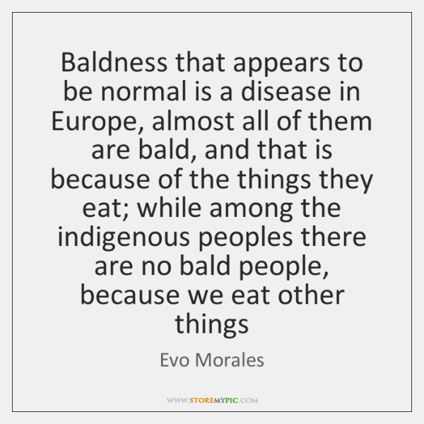 Baldness that appears to be normal is a disease in Europe, almost ...