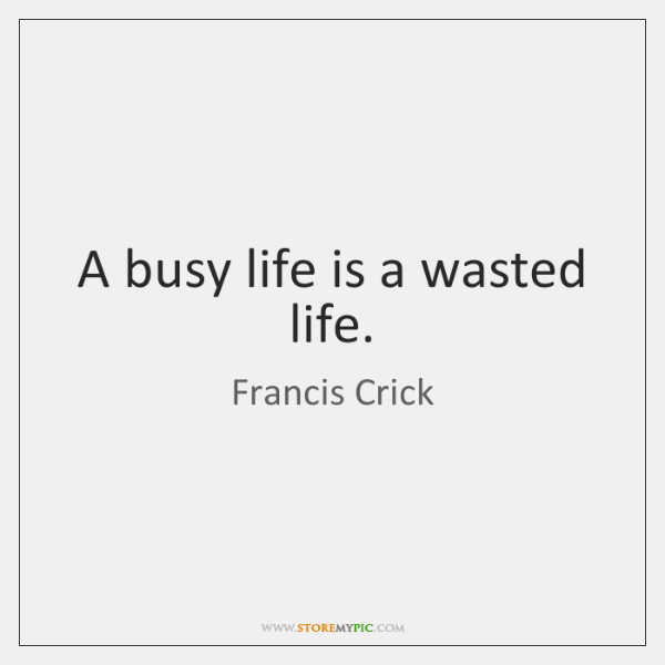 A Busy Life Is A Wasted Life Storemypic