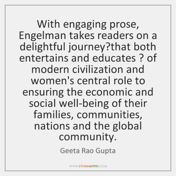 With engaging prose, Engelman takes readers on a delightful journey?that both ...