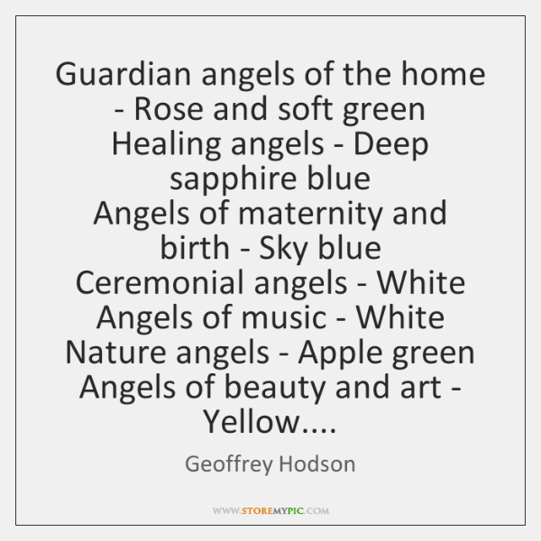Guardian angels of the home - Rose and soft green   Healing angels ...