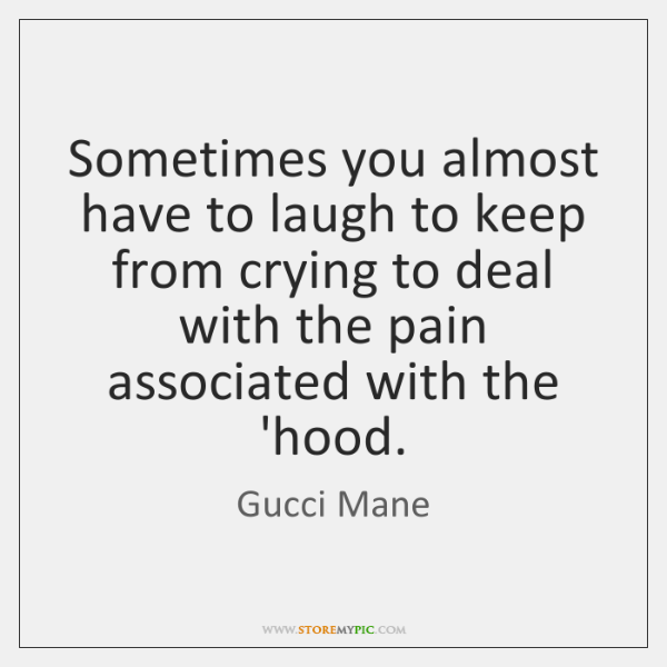 Sometimes You Almost Have To Laugh To Keep From Crying To Deal