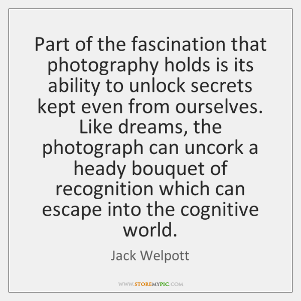 Part of the fascination that photography holds is its ability to unlock ...