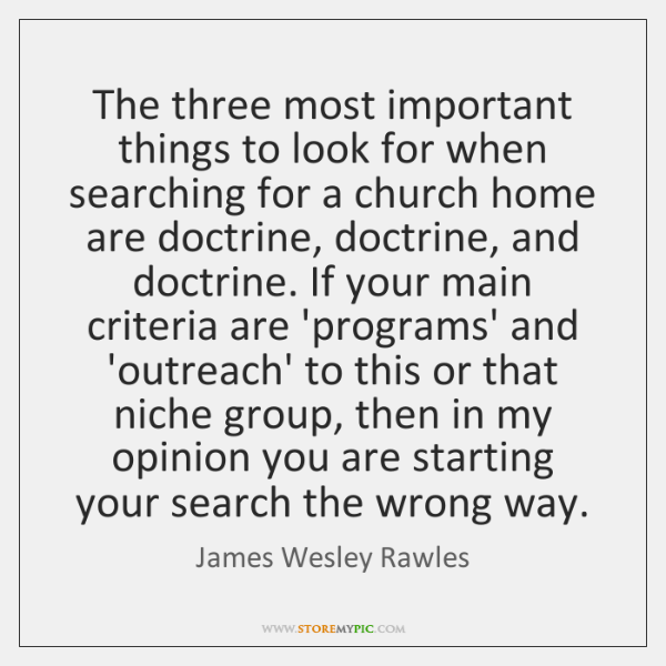 The three most important things to look for when searching for a ...