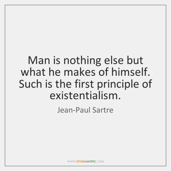 Jean Paul Sartre Philosophy Poster Writer Quote Vintage Etsy