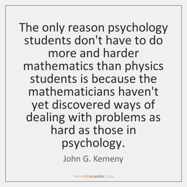 The only reason psychology students don't have to do more and harder ...