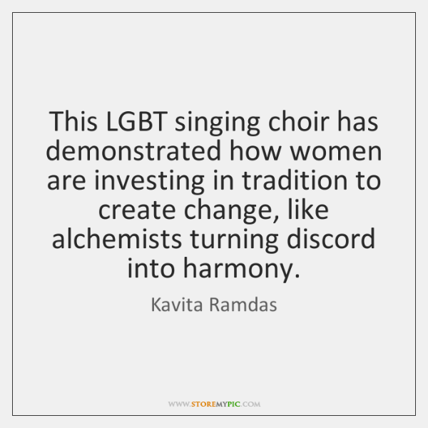 This Lgbt Singing Choir Has Demonstrated How Women Are Investing In