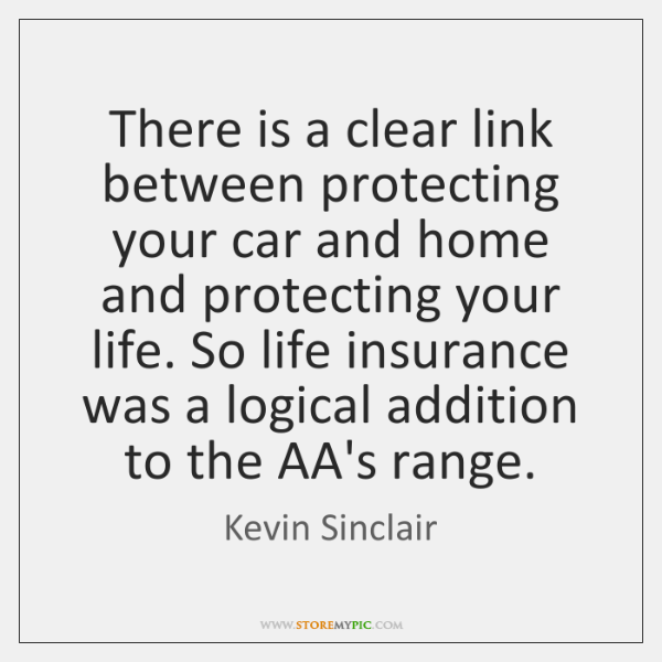 There is a clear link between protecting your car and home and ...