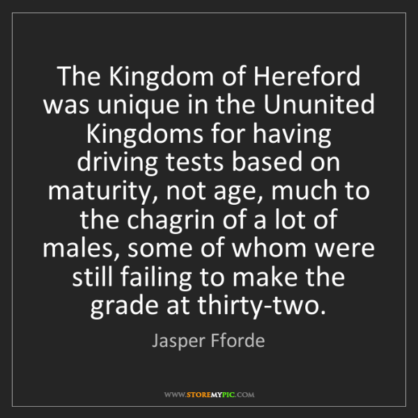 Jasper Fforde: The Kingdom of Hereford was unique in the Ununited Kingdoms...