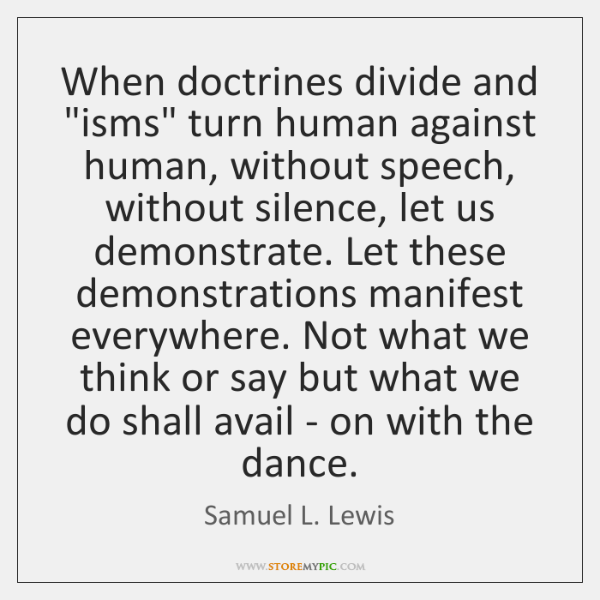 When doctrines divide and