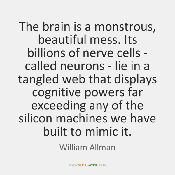 The brain is a monstrous, beautiful mess. Its billions of nerve cells ...