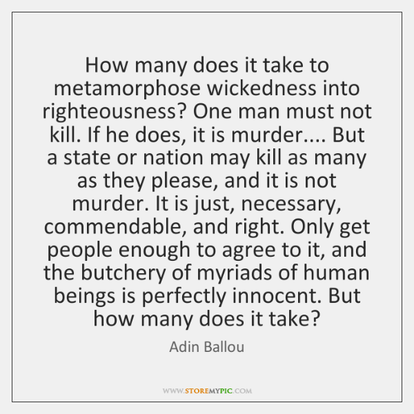 How many does it take to metamorphose wickedness into righteousness? One man ...