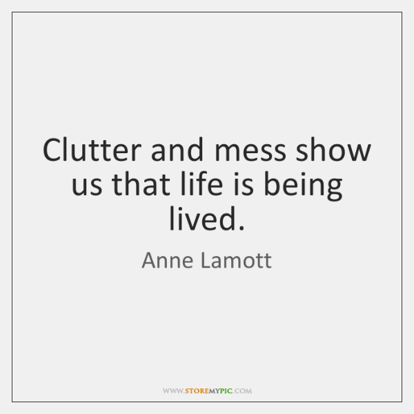 Clutter And Mess Show Us That Life Is Being Lived Storemypic