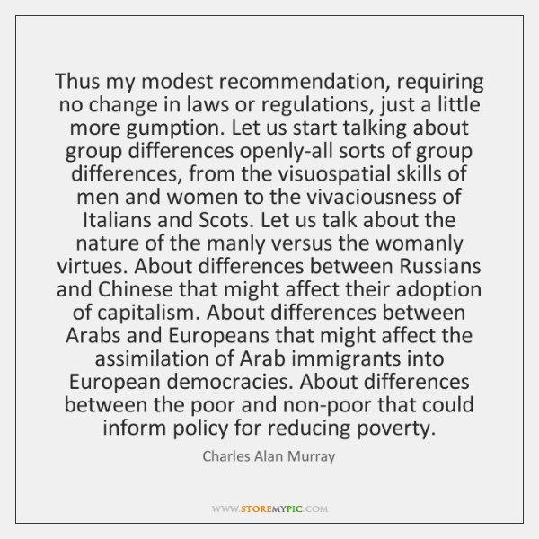 Thus my modest recommendation, requiring no change in laws or regulations, just ...