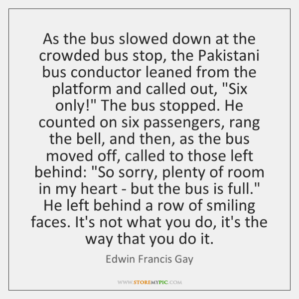 As the bus slowed down at the crowded bus stop, the Pakistani ...