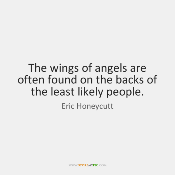 The wings of angels are often found on the backs of the ...