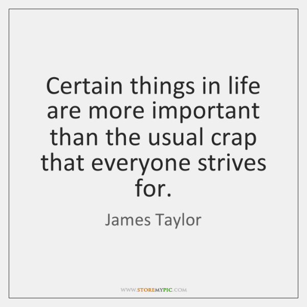 an introduction to the important things in life There are so many things that are important to me, but only a few that could greatly affect my life if i didn't have or accomplish them the biggest things to me are success, family, and freedom.