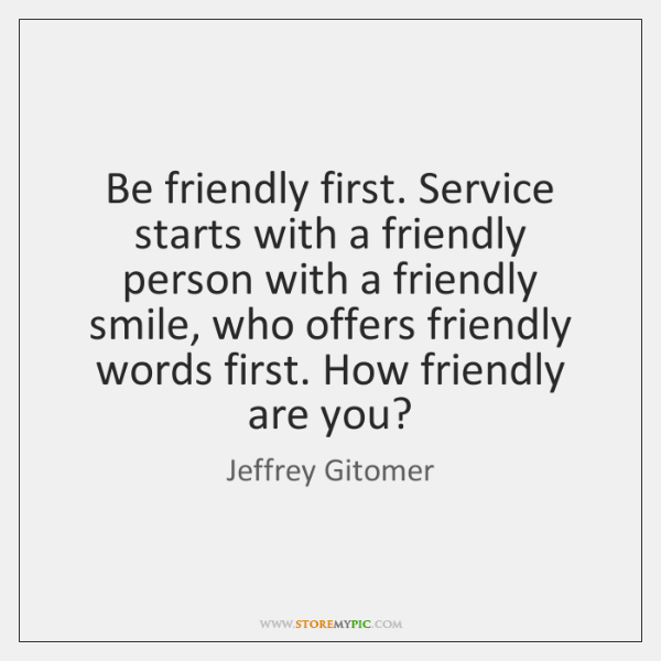 friendly person