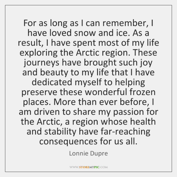 For as long as I can remember, I have loved snow and ...