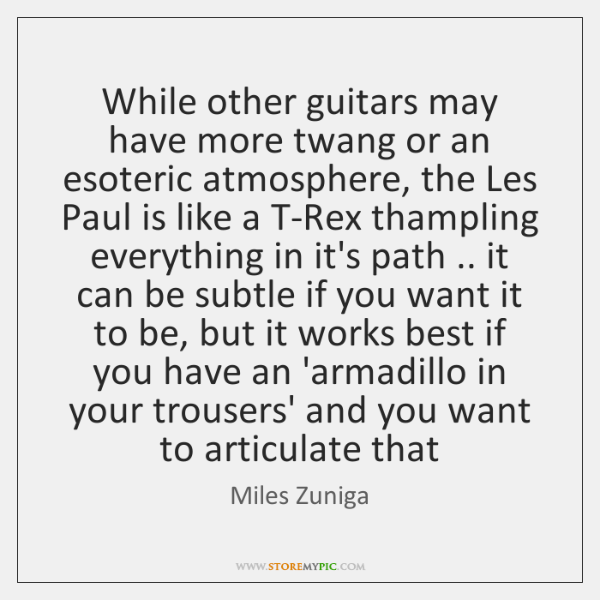 While other guitars may have more twang or an esoteric atmosphere, the ...