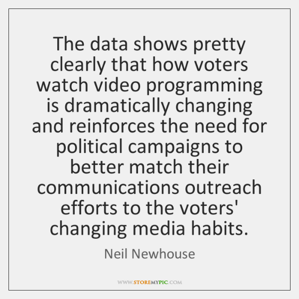 The data shows pretty clearly that how voters watch video programming is ...