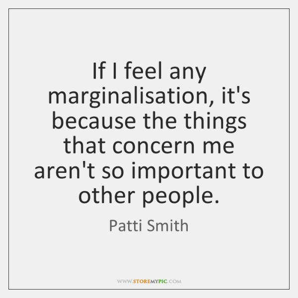 q a marginalisation
