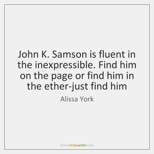 John K. Samson is fluent in the inexpressible. Find him on the ...