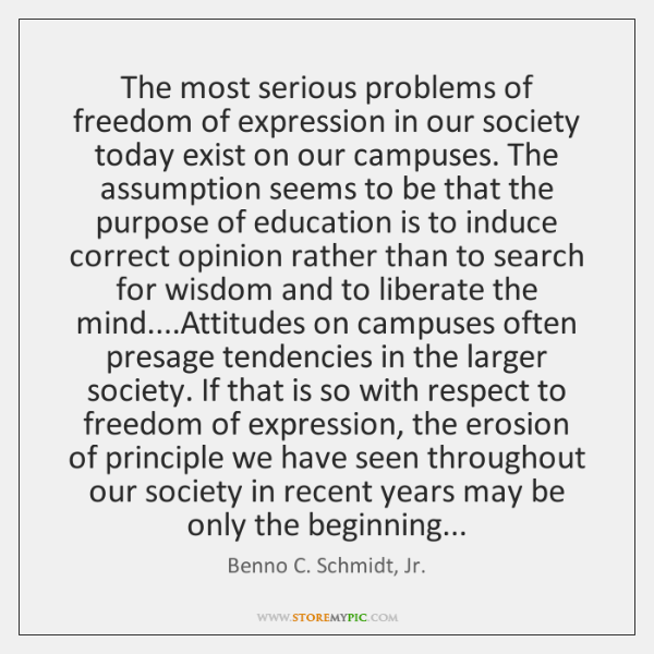 The most serious problems of freedom of expression in our society today ...
