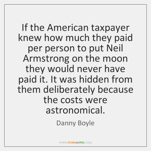 If the American taxpayer knew how much they paid per person to ...