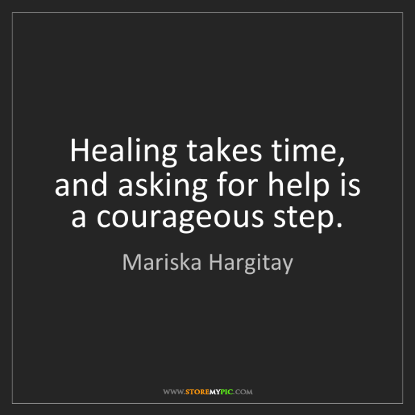 Mariska Hargitay: Healing takes time, and asking for help is a courageous...