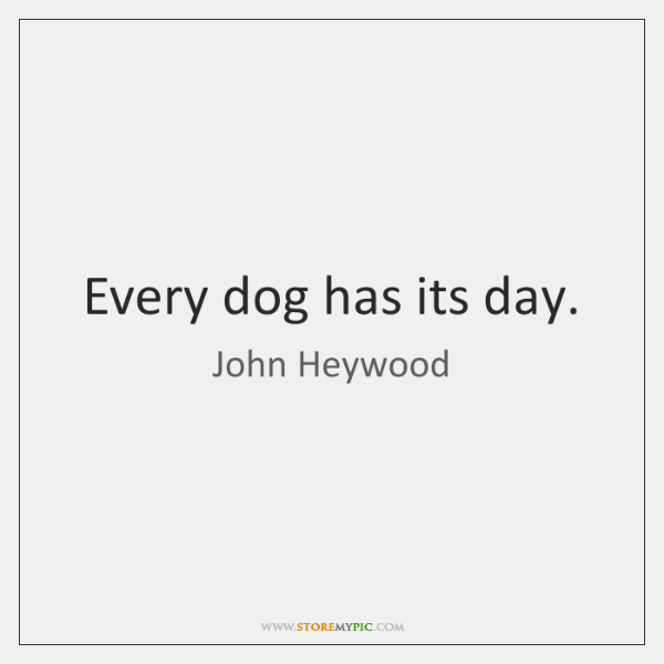 Every Dog Has Its Day Storemypic