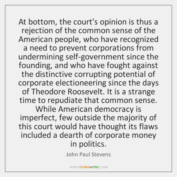 At bottom, the court's opinion is thus a rejection of the common ...