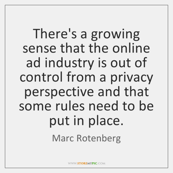 There's a growing sense that the online ad industry is out of ...