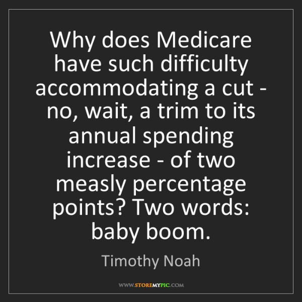 Timothy Noah: Why does Medicare have such difficulty accommodating...