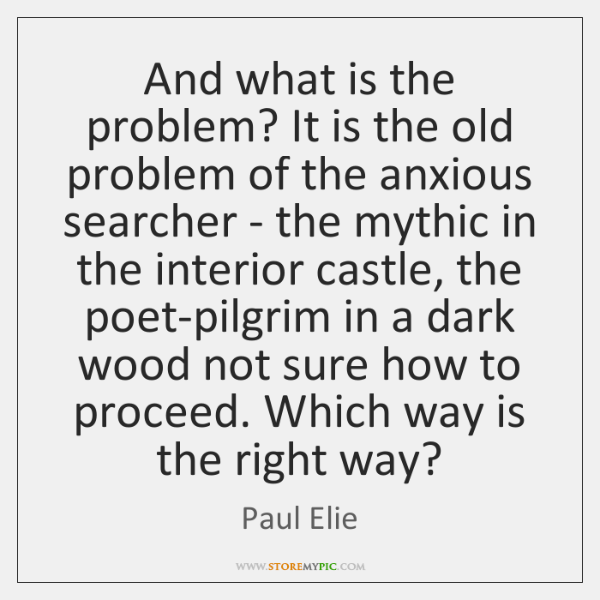 And what is the problem? It is the old problem of the ...