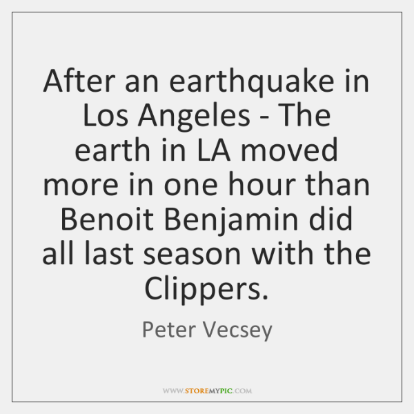 After an earthquake in Los Angeles - The earth in LA moved ...
