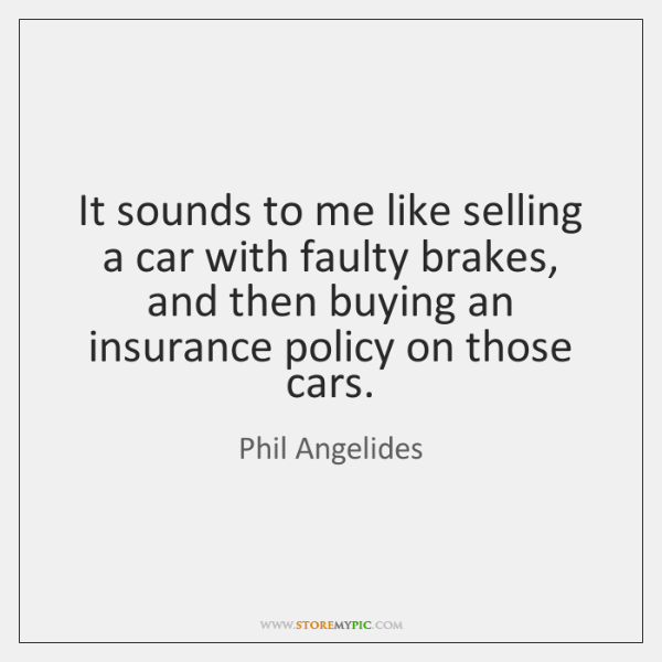 It sounds to me like selling a car with faulty brakes, and ...